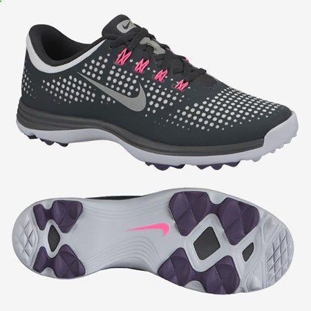 876f29dca7b ... Nike Lunar Empress Womens Spikeless Golf Shoes - Grey Pink 1244127 ...