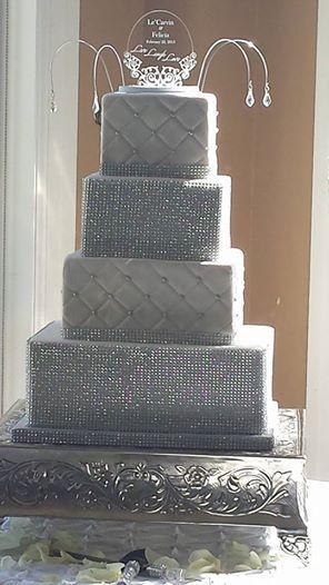 4 tier wedding cake square wedding cake fondant quilting and sparkle 4 tier square 10408