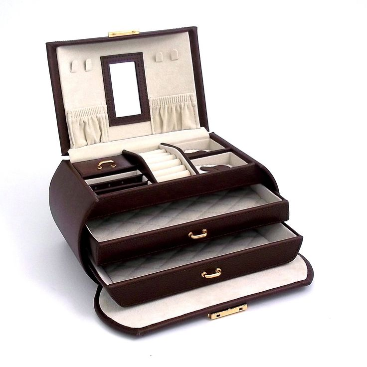 Have to have it. Brown Multi-level Travel Leather Jewelry Box - 9W x 5.25H in. $99.00