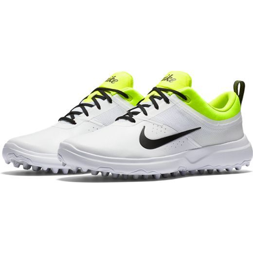 Ace your game with comfort and style in this White/Back/Volt (Medium. Girls GolfLadies  GolfGolf StyleNike GolfBest ShoesGolf ShoesAmerican Girl ...