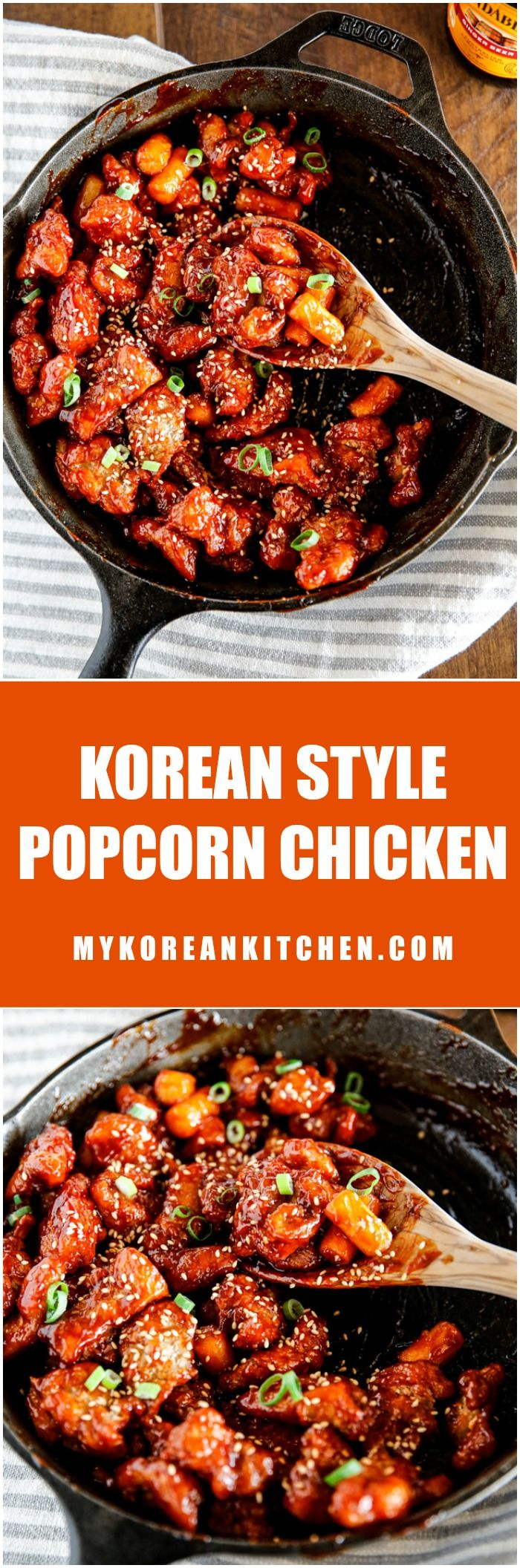 Crispy and sticky Korean style popcorn chicken