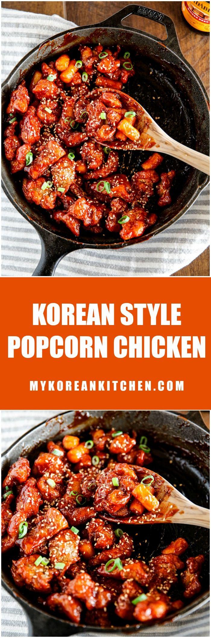 Crispy and sticky Korean style popcorn chicken