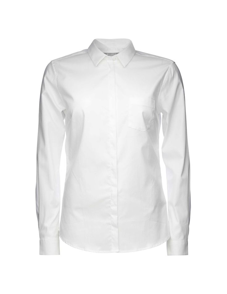 Tiger Woman, Darcell Oxford shirt-Classic women's shirt in a lightweight Oxford cotton with stretch. Details include a small collar, a single breast pocket and clean placket with hidden buttoning. Slightly rounded hemline and slim fit.