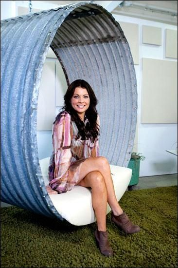 I love this idea of a swinging chair from a grain silo.