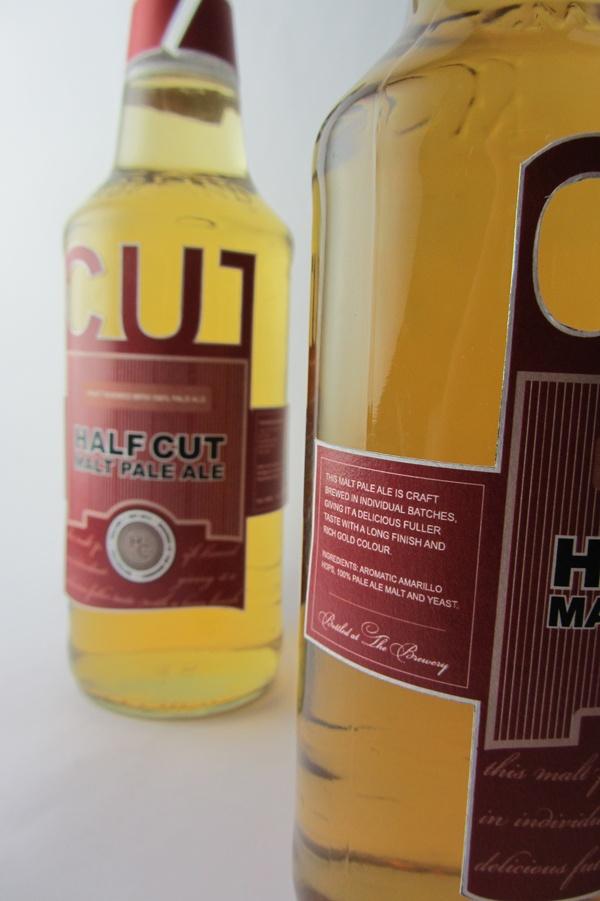 Half Cut Pale Ale Label by Michelle Marks, via Behance