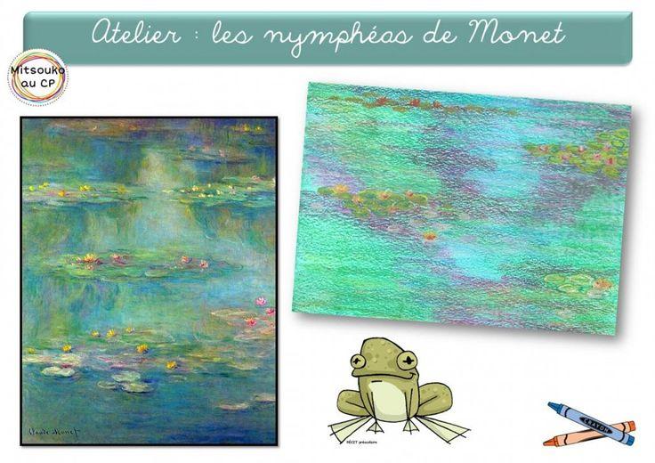 Plusieurs ateliers inspirés des nymphéas de Claude Monet - Mitsouko au cp