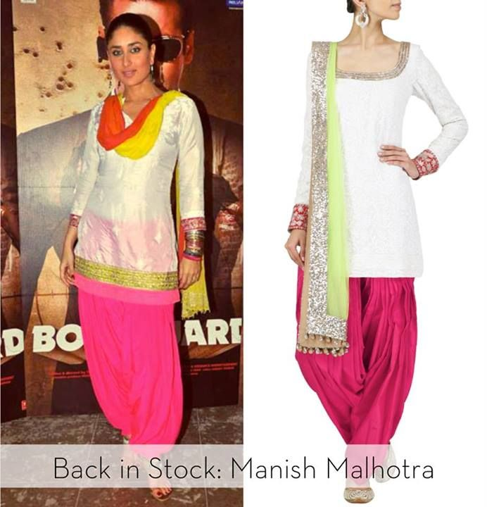 BACK IN STOCK: Manish Malhotra Dress-up Bollywood style this festive season in your favorite Manish Malhotra outfits. Shop the ivory and red chikankari kurta set at http://www.perniaspopupshop.com/designers-1/manish-malhotra/manish-malhotra-ivory-and-red-chikankari-kurta-set-with-embellished-dupatta-awpq03mm.html