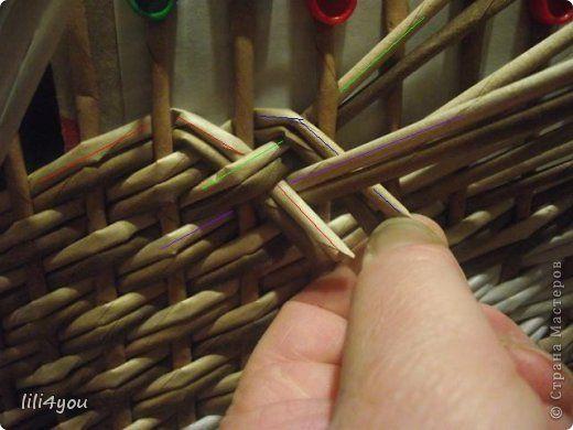 Мастер-класс Плетение МК закрытия косого плетения Трубочки бумажные фото 10