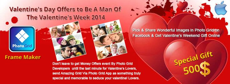 Pick & Share Wonderful Images in Photo Grid on Facebook & Get Valentine's Weekend Gift Online https://www.facebook.com/pages/Photo-Grid/408884139242120