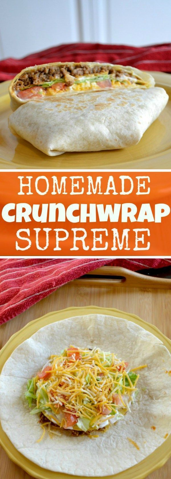 Forget going to Taco Bell! You can make this delicious Crunchwrap Supreme at home (With as much sour cream as your heart desires!)