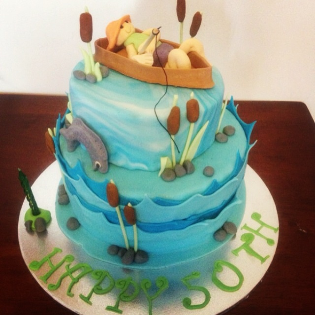 1000 images about fishing birthday party on pinterest for Fishing themed cakes