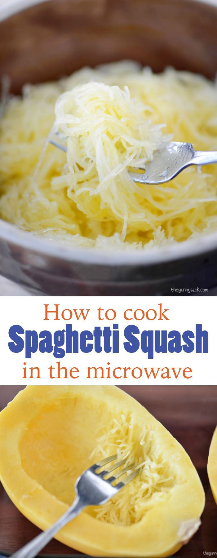 Learn how easy it is to cook spaghetti squash in the microwave!