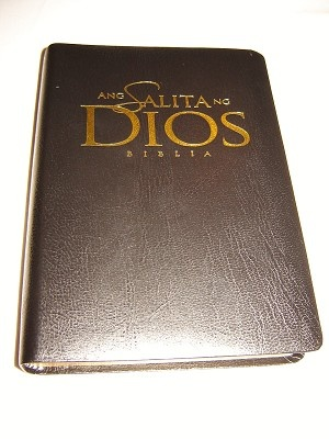 Tagalog Bible ASD Ang Salita Ng Dios / Modern NIV Philippine Translation / Black Bonded Leatherbound Cover, Golden Edges, Maps
