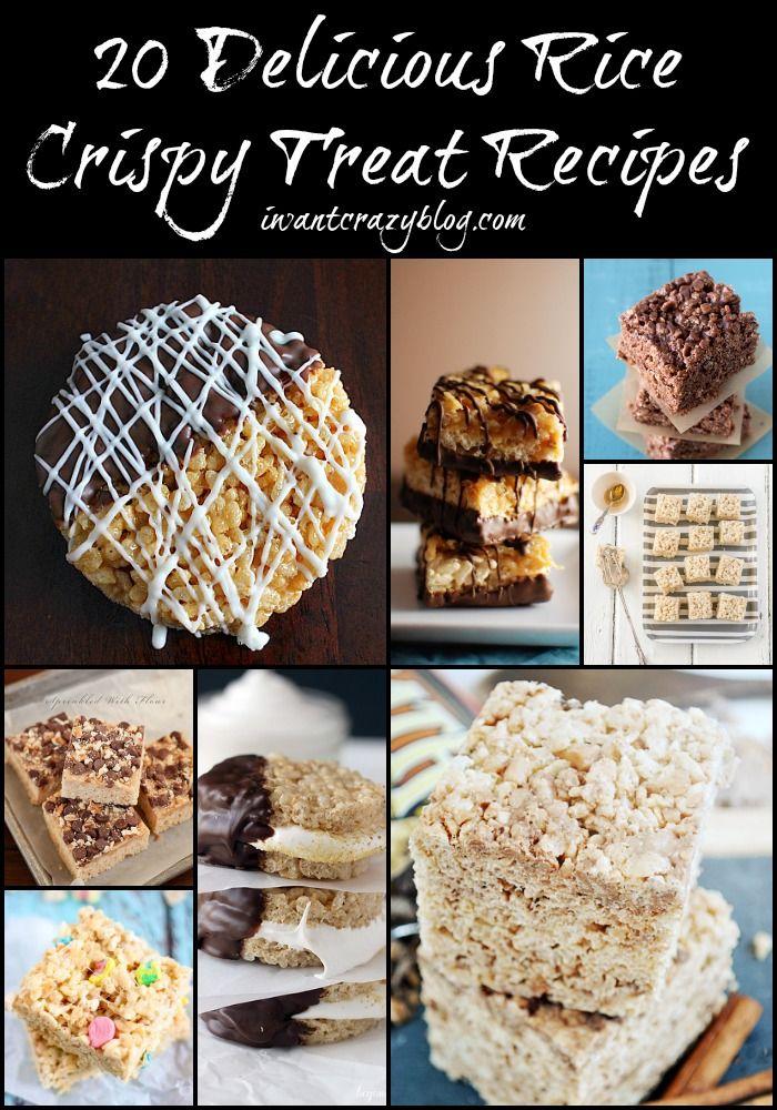 20 Delicious Rice Crispy Treat Recipes #favorite #crispytreats