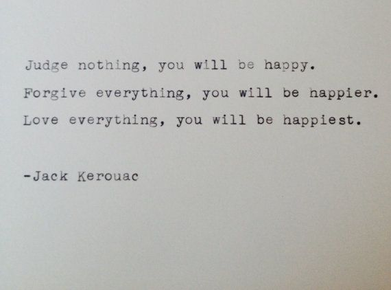 Vintage typewriter notecard- Jack Kerouac quote on Etsy, $5.00