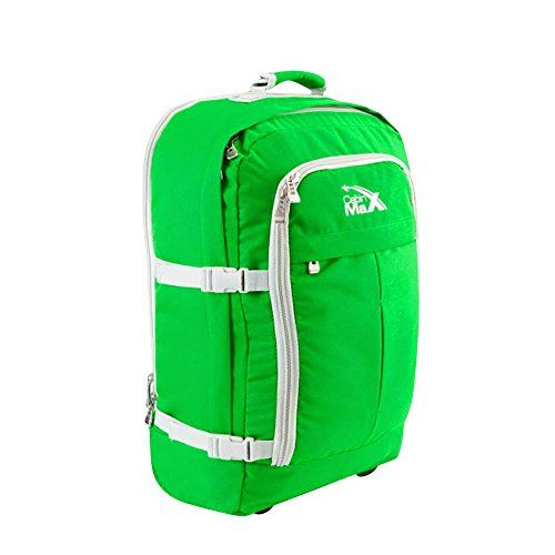 From 34.95 Cabin Max Lyon Flight Approved Bag Wheeled Hand Luggage - Carry On Trolley Backpack 44l 55x40x20 - Green