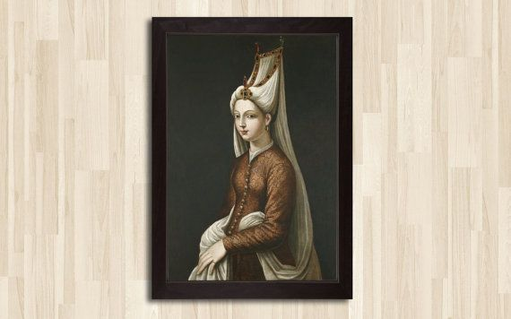 Hey, I found this really awesome Etsy listing at https://www.etsy.com/listing/185999006/the-real-photo-of-hurrem-sultan-hurrem