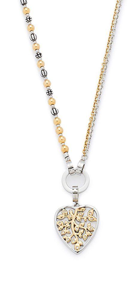 Jewels by Leonardo Schmuckset: Halskette mit Glassteinen (Set, 4 tlg.), »darlin's ornato, 015754«