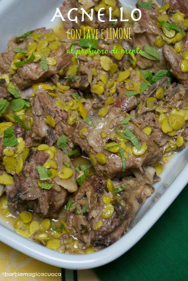 Barbie Magica Cuoca - blog di cucina: Agnello con fave e limone al profumo di menta