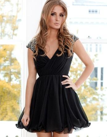 Lipsy V I P Embellished Shoulder Prom Dress