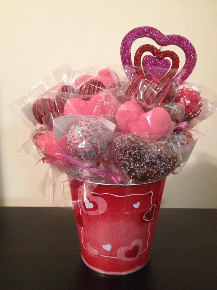 Valentine's Day cake pop bouquet!