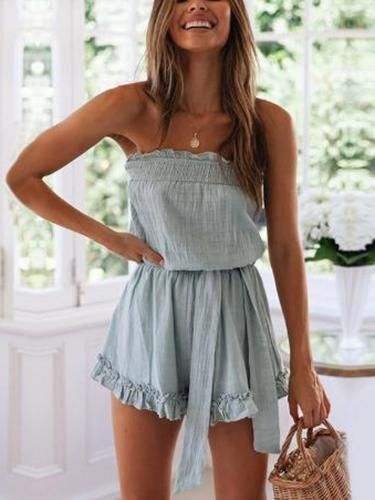 Ruffled Chest Strap Tie Jumpsuit 3