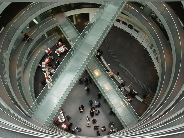 Heidelberg, Germany: EMBL, The Advanced Training Centre: double helix ramp (2010, architect Bernhardt + Partner)