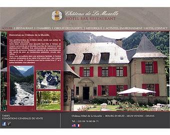 Site e-tourisme  Un château hôtel restaurant, une gentillomière dans un très beau domaine, environnement moyenne montagne dans une très belle région la vallée du Vénéon... A Venoc en Isère et Rhône Alpes (38) Version HTML et PHP/MySQL  EN COURS de réalisation