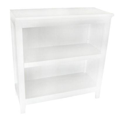 Carson 2-Shelf Bookcase - White