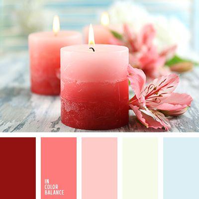 amarillo pálido, burdeos, celeste, celeste pálido, color rojo sangre, color sandía, coral, elección de colores para el interior, elección del color, paleta de colores, rojo, rojo pálido, selección de colores, tonos rojos.