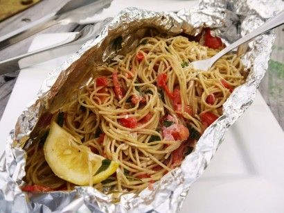 Grilled Pasta Packets (Great for camping)