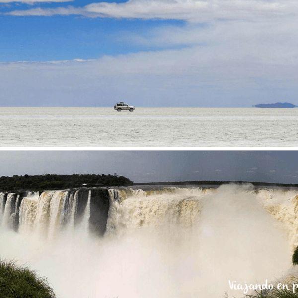 Del Salar de Uyuni a las Cataratas de Iguazu, ¿cómo ir?