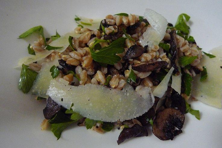 Farro Salad with Mushrooms and Pecorino Cheese recipe on Food52