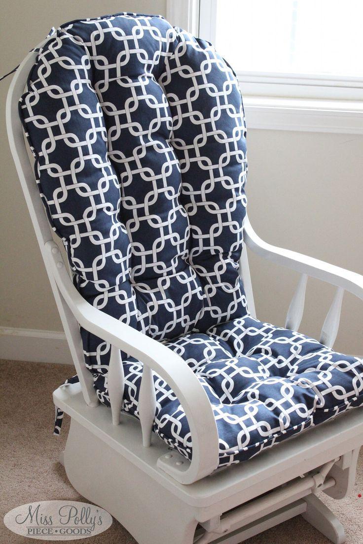 Custom Chair Cushions/ Glider Cushions/ Rocking Chair Cushions/ Glider Replacement Cushions by MissPollysPieceGoods on Etsy https://www.etsy.com/listing/178107141/custom-chair-cushions-glider-cushions