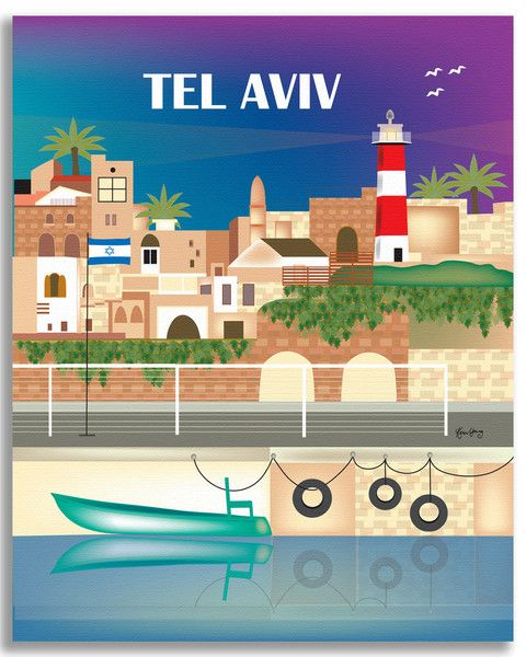 Available in an array of finishes, materials, and sizes, this retro inspired wall art will make Tel Aviv feel close to your heart with its bright color palette and unique design. You can start with on