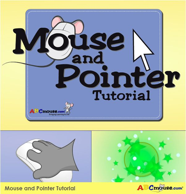 We have a Mouse and Pointer Tutorial for your child to get comfortable with using the computer mouse. Click on the pin to try it with your child!