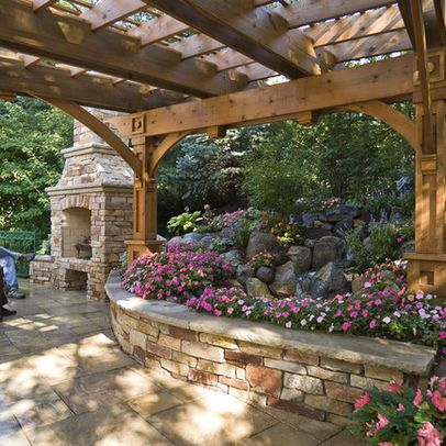 Gorgeous pergola and raised flower beds from Windsor Companies' St. Paul Project...