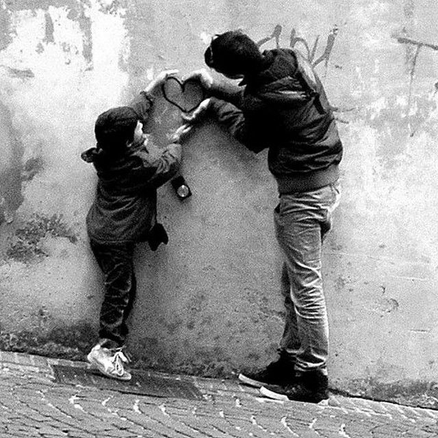 heart black and white in urbino #urbino #2014
