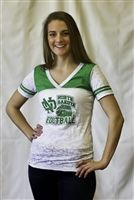 Women's University of North Dakota clothing items. GW Gear. Green White Gear. University Of North Dakota. Women. UND. Fighting Sioux. Sioux. Grand Forks. North Dakota. Apparel. College. Hockey. Baseball. Basketball. Football. Volleyball. Green. White. Gear.