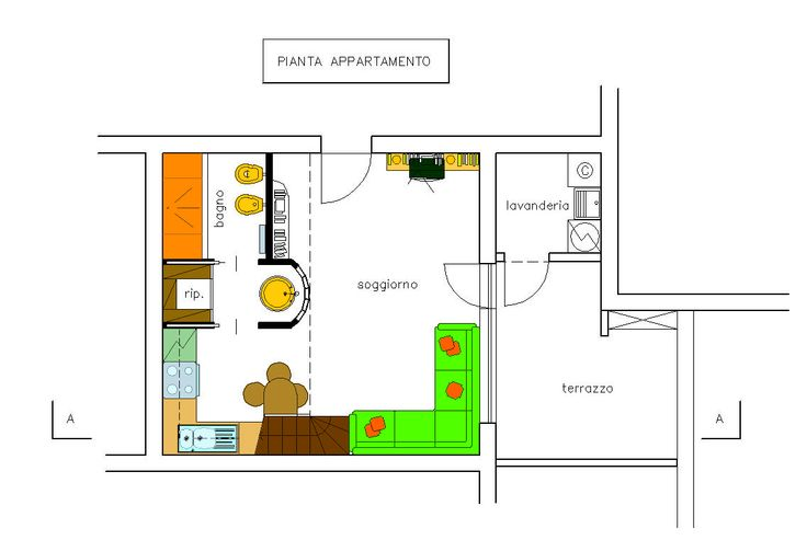 Interior design appartamento in via Mecenate a Milano, Superficier Slp = 43 mq Studio di Architettura Roberto Carlando, Piazza Monte Falterona n°11 Milano - 20148 Italy Phone    +39.02.48713840 studio@robertocarlando.com   ;  www.robertocarlando.com