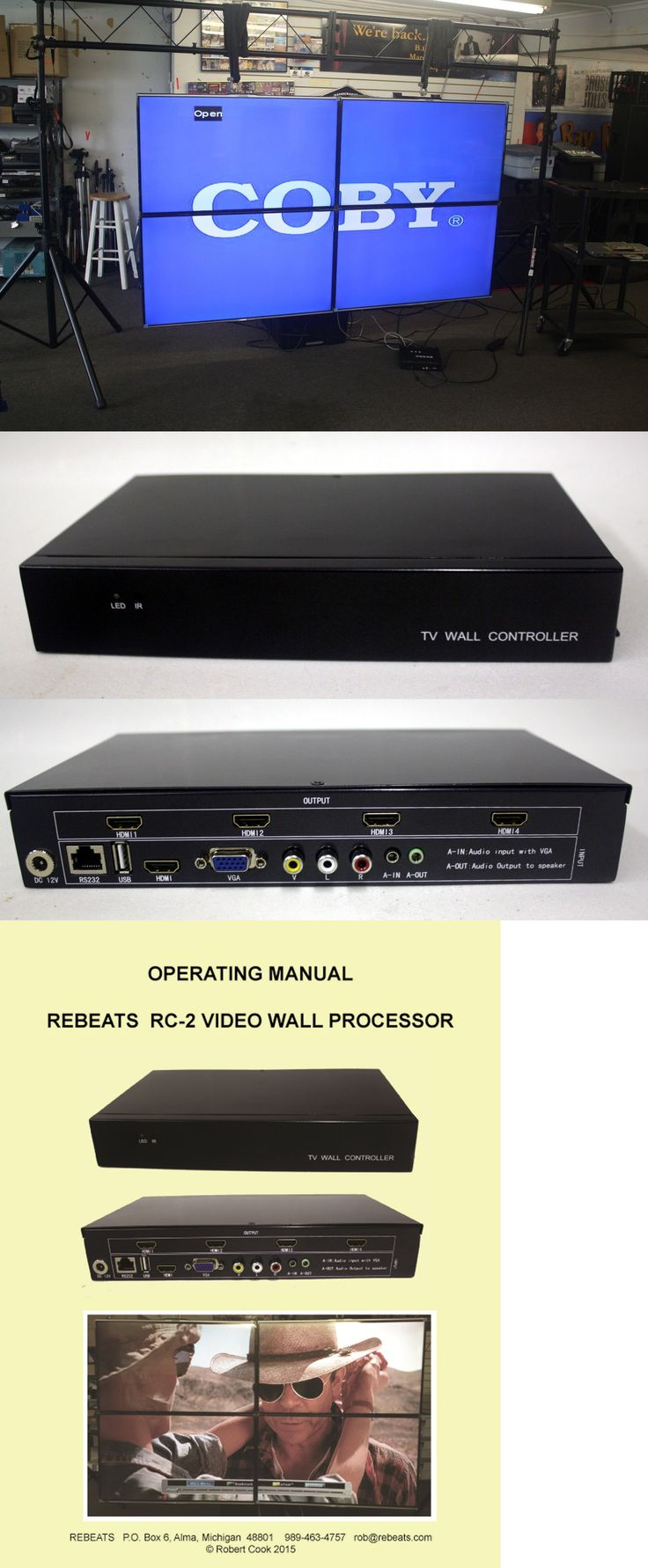 Other TV Video and Audio Parts: 2X2, Video Wall Processor, Hdmi Outputs, Multi-Format Inputs, Free Shipping BUY IT NOW ONLY: $469.0