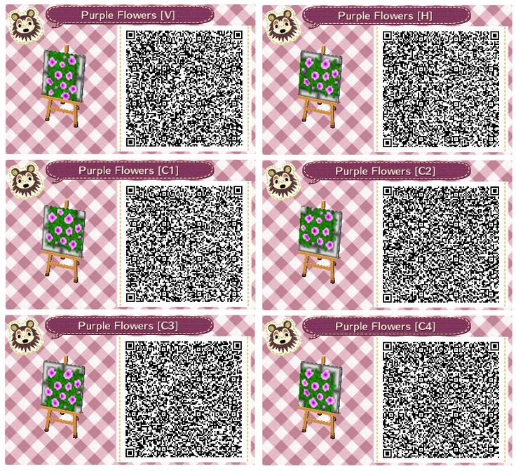 Purple Flower Beds By Quirkberry Animal Crossing New