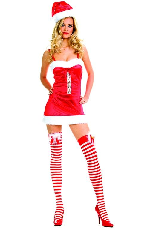 #MusicLegs #Holidayseason www.fifty-6.com ml70167 Miss santa dress with hat