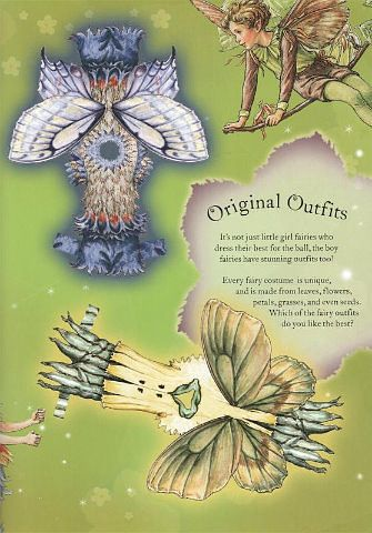 FLOWER FAIRIES Paper Dolls and Flower Fairies Friends from Penguin Group published 2005. Front and Back Designs for Dolls and Dresses 2