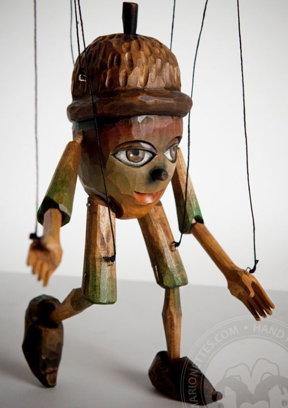 Chiff chaff - wooden marionette