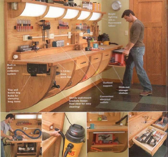 Supers Idees Bricolage Pour Votre Prochain Projet Menuiserie Bois Woodwork Wood Projets De Menuiserie Organiser Les Outils De Garage Rangement Outils
