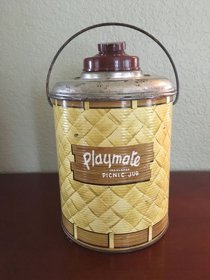 A personal favorite from my Etsy shop https://www.etsy.com/listing/582116835/vintage-playmate-insulated-picnic-jug