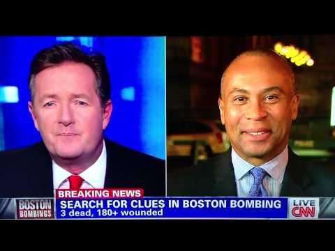 Gov. Deval Patrick Laughing at Boston Marathon Bombing tragedy (Accident?)