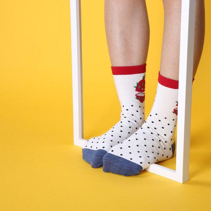 2017 New Arrival Fruit Girls Boys Socks Fashion Harajuku Cute Style Cotton Socks Pineapple Pattern Watermelon Cute Casual Socks