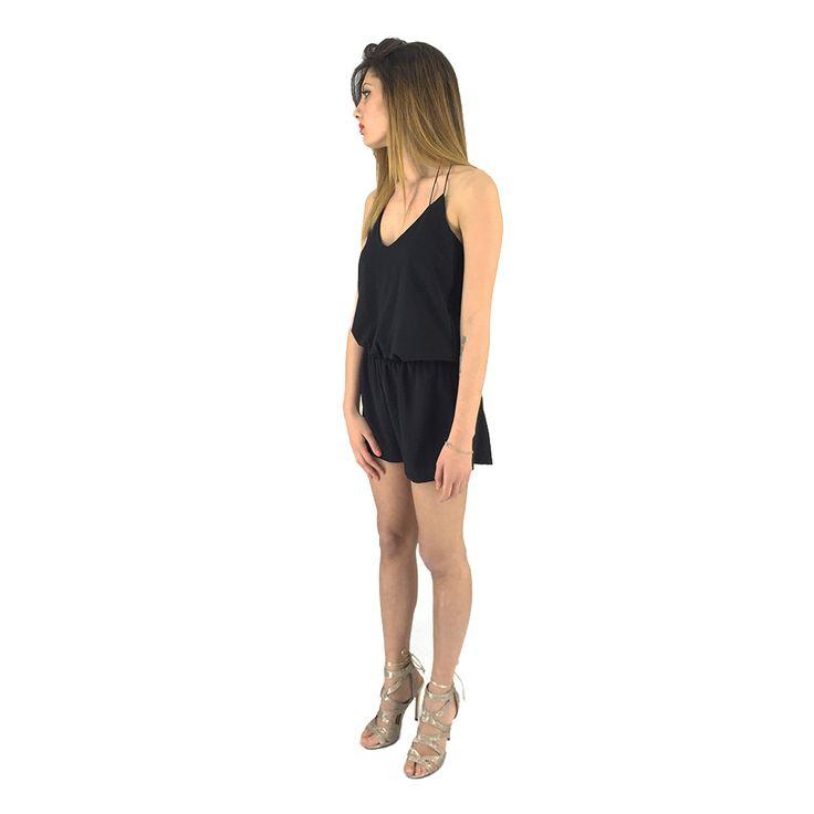 Vestito nero a pantaloncino Rue 45